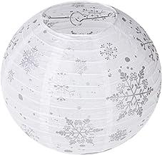 OSALADI Lanternas de papel penduradas para Natal, flocos de neve, lanternas de papel decorativas para decoração de anivers...