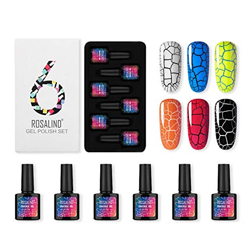 6 Farben 10ML Für Rosalind Crack Nagel Gel Burst Crack Kleber Set Magic Cracking Nagellack Leopard Gel Cracking Kleber