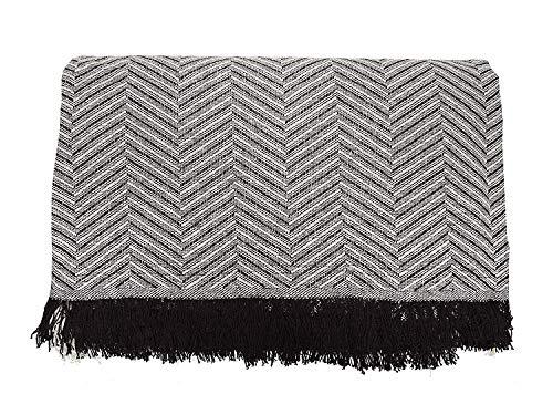 Cabatex Home - Colcha Multiusos Plaid Foulard Cubre SOFÁ O Cama Mod. ZIGA (Marrón, 180_x_260_cm)