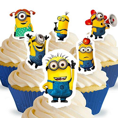 Cakeshop 12 x VORGESCHNITTENE UND ESSBARE Ich - Einfach unverbesserlich Kuchen topper (Tortenaufleger)