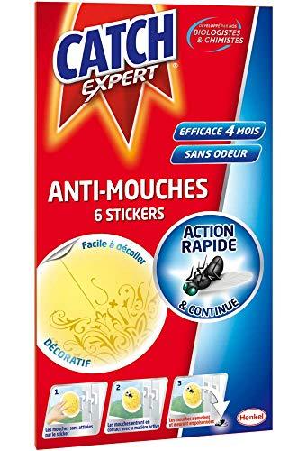 CATCH Expert Stickers Anti-Mouches Décoratifs - Jaune -6 Stickers