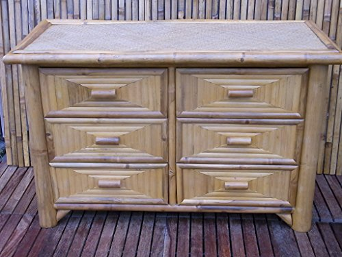 Bambuskommode Kommode Bambus Schrank Regal Lowboard Sideboard Lai Tao