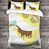 Yund Cheese Drinking Milk Fosters Home for Imaginary Friends Funny Character 3-Piece Bedding Set 86'X70'