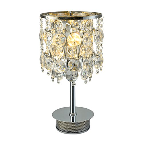 Lampe de table en Cristal Simple Moderne Chambre Lampe de Chevet Creative Vertical LED