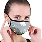 Fashion 3D Face_mask_Protect Printed Gesichts-Mund-SchutzFeline,Children Cartoon of Bunny Fox Mouse Bird and Hedgehog Having Fun In Nature