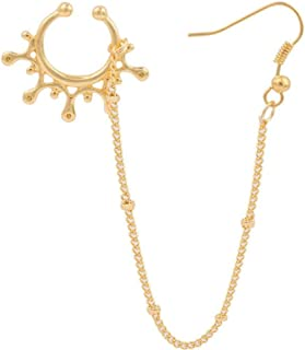 Kiokioa Stainless Steel Open Hoop Nose Ear Ring Earrings Nose Stud Nose Ring Body Piercing Studs Jewelry