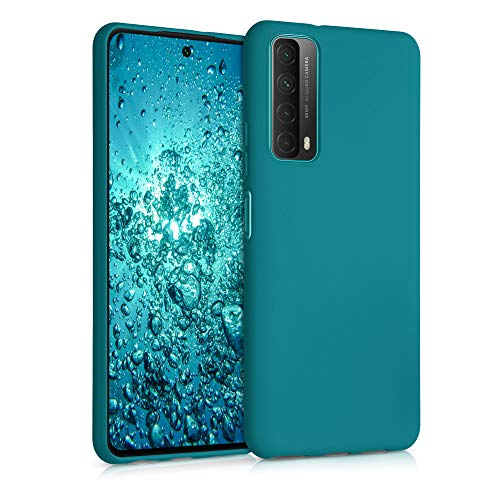 kwmobile Hülle kompatibel mit Huawei P Smart (2021) - Hülle Silikon - Soft Handyhülle - Handy Hülle in Petrol matt