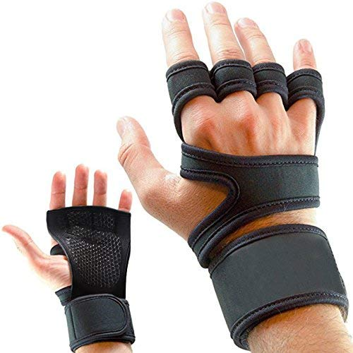 New Fit Ventilated Weight Lifting Gym Gloves - Full Palm Protection & Extra Grip - Cross Training, Crossfit, Powerlifting, Wrist Support, Body Building - Best for Men&Women (Small)