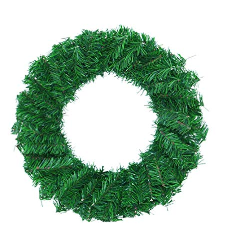 Winnfy Christmas Artificial Wreaths Lit Christmas Tree Natural Pine Cones and Berry Xmas Decor Garlands Green Home Office Front Door Supplies 15.7inch