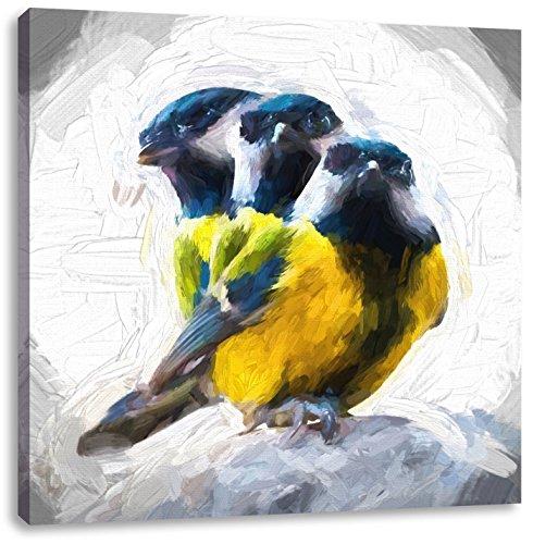 Nieuwsgierig pimpelmezenCanvas Foto Plein | Maat: 70x70 cm | Wanddecoraties | Kunstdruk | Volledig gemonteerd