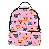 Laptop-Rucksack mit niedlichen Tiergesichtern, stilvoller Schulrucksack für...