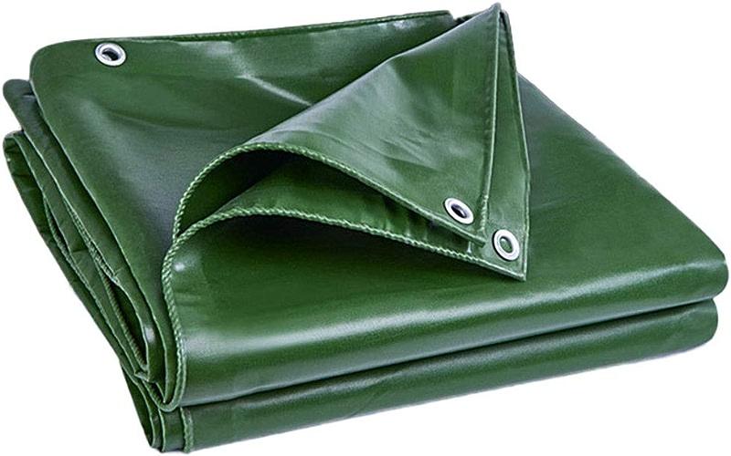 LIAN Bache de Preuve de la pourriture de l'eau avec des Oeillets pour Le Bateau de Voiture de Camping au Sol, 420g   m2, Vert foncé (Taille   4x5m)
