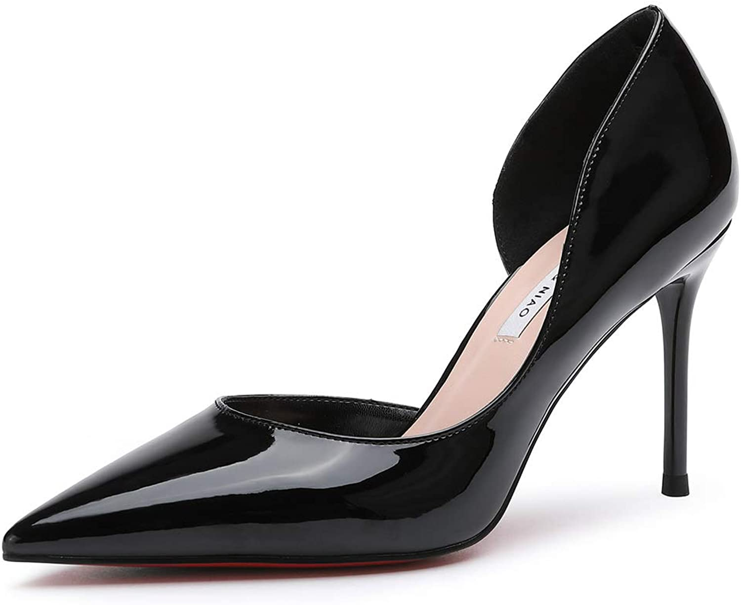 Soulength Ladies High Heels Patent Leather Stiletto Pointed Toe Pumps Sexy Joker for Women's shoes