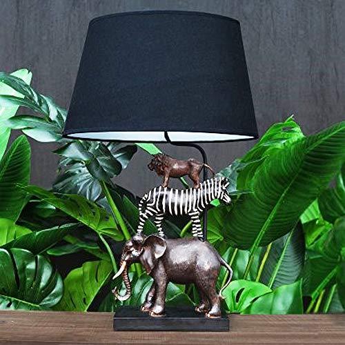 Geniale Tischlampe Safari 70cm Elefant Zebra Löwe Tiere Lampe Tischleuchte
