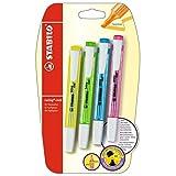 Marcador fluorescente STABILO swing cool - Pack con 4 colores