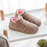 N/P Pantuflas cálidas de algodón para mujer y hombre, con forro de felpa, para interior y exterior