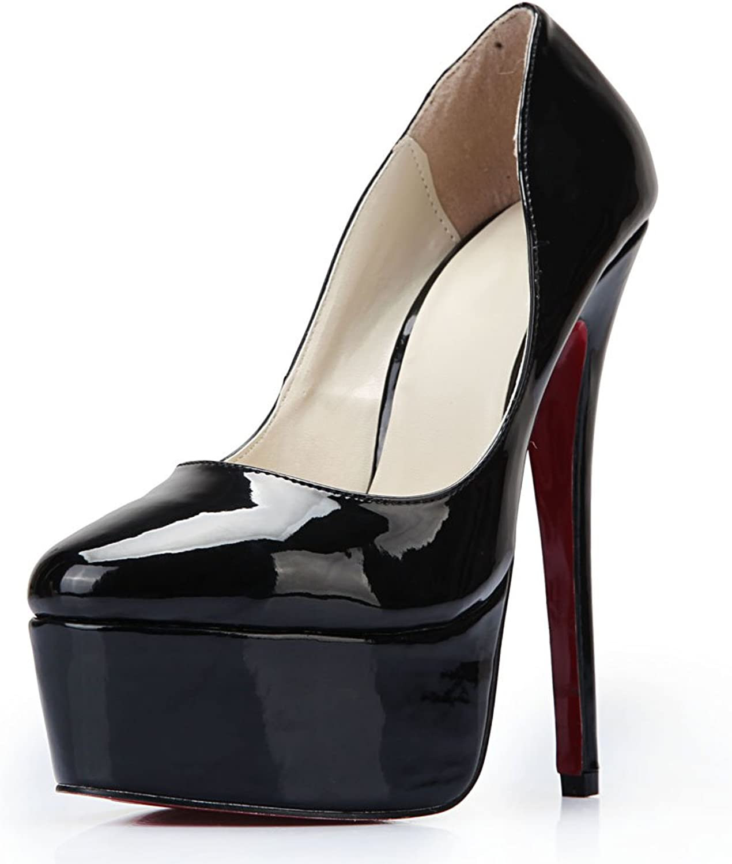 MAIERNISI JESSI Unisex Men's Women's Flatform Stiletto Super High Heels Slip on Pumps