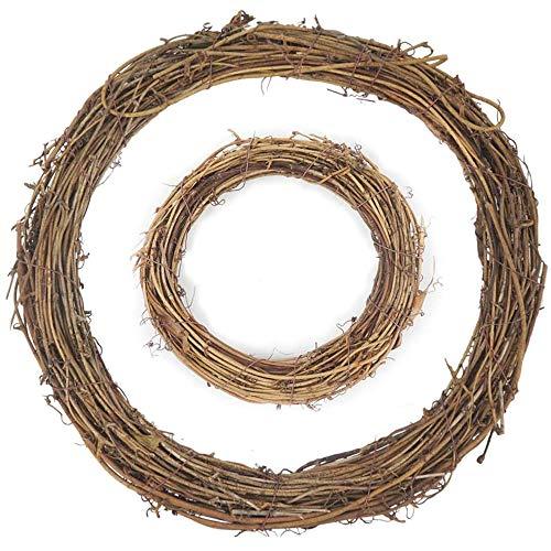 AMACOAM Couronnes en Rotin Naturel Couronne de Noel Porte Co