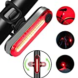 Luce Posteriore per Bicicletta, Ricaricabile USB per Bicicletta a LED, Potente Faro a LED ...