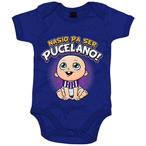 Body bebé nacido para ser Pucelano Valladolid fútbol - Azul Royal, 12-18 meses