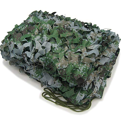 XUE Tarnnetz Woodland Digital für die Jagd Camouflage Netz Grün für Bundeswehr Sniper Armee Fotografie Sonnenschutz Deko Militär Garten 1,5m/2m/3m/4m/5m/6m/7m/8m/10m/12m/20m