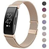 HAPAW Bands Compatible with Fitbit Inspire 2/Inspire HR, Inspire 2 Metal Band Accessories Stainless Steel Mesh Bracelet Women Men Wristbands Strap for 2020 Inspire 2 Fitness Tracker