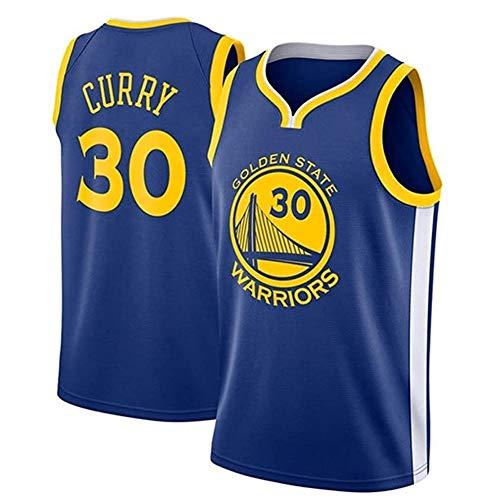 Herren Basketballtrikots - Golden State Warriors # 30 Stephen Curry Retro-Trikot, atmungsaktive, verschleißfeste Sportweste Top Fan-Trikots, Swingman-T-Shirts, Fan Edition, Sporttrikotweste