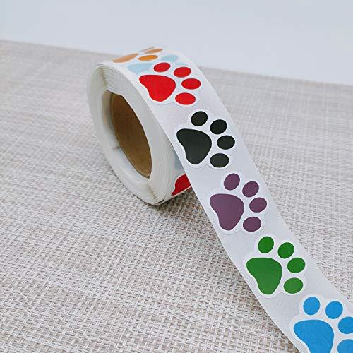 500 unidades de pegatinas de impresión de huellas de perro y huella de oso para cuadernos escolares, habitación de los niños, clubes de perros, decoración