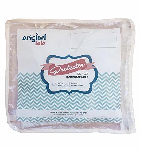 Originalbaby - Protège-matelas pour lit de bébé en tissu-éponge imperméable, 50 x 80 cm
