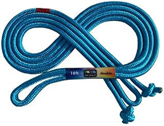 Just Jump It 16' Foot Single Jump Rope - Active Outdoor Youth Fitness - Double Dutch Length - Turquoise