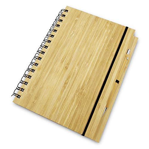 Lac Album da Disegno Professionale notebook Blocco note con Copertina Rigida, Sketchbook, in Legno di Bamboo con 71 fogli A5 Pagine bianche, adatto per disegnare e prendere appunti