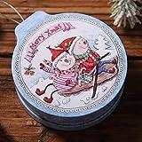 Yuanshenortey Árbol de Navidad colgante Candy Box Galletas Caja Contenedor Organizador Festival Accesorios Decorativos