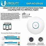 UniFi AP AC LR UAP-AC-LR-US Long Range 802.11ac Dual-Band Wireless Access Point Gigabit PoE Speeds 867Mbps