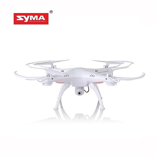 Syma X5SC Upgraded New Version Syma X5SC-1 Falcon Drone HD 2.0MP Camera 4 Channel 2.4G Remote Control Quadcopter 6 Axis 3D Flip Fly UFO 360 Degree Eversion With 4GB SD Card (White)