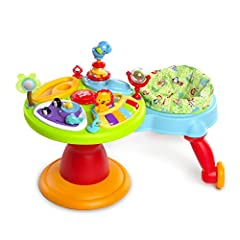 """More movement, more giggles, more happy moments Award winning sitting to standing Walker Baby Walker rotates around activity center Walker seat can be removed when baby outgrows it. Suitable for child less than 30"""" tall"""