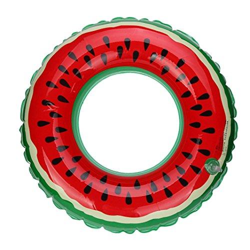 HARRYSTORE Schwimmbecken Aufblasbare Wassermelone Schwimmen Ring Erwachsene Frucht gedruckt Schwimmen Ring (Durchmesser: 90cm)