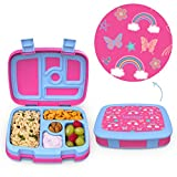 Bentgo Kids Prints Leak-Proof, 5-Compartment Bento-Style Kids Lunch Box - Ideal Portion Si...