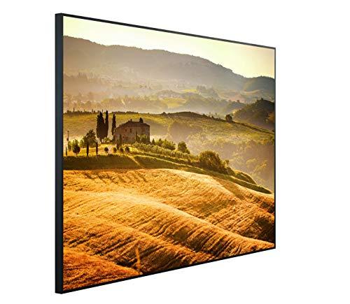 InfrarotPro C18-1200 | Infrarotheizung 1200 Watt Bildheizung 300+ Motive | Made in Germany | Geprüfte Technik | Ultra-HD Auflösung, B11: Landschaft Toskana, 115x100x3cm