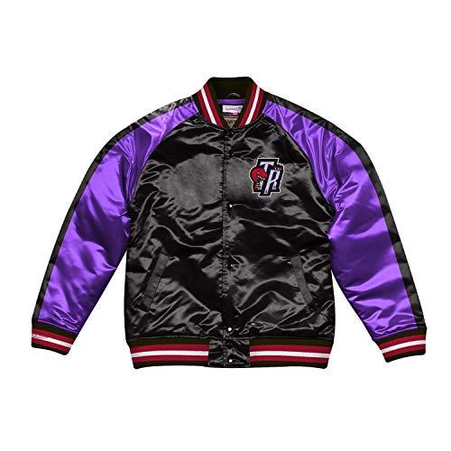 Mitchell & Ness NBA Color Blocked Satin Jacket (T. Raptors - Black, S)