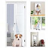 Mosquitera magnética para puerta, protección contra insectos, puerta de balcón, montaje fácil sin agujeros, no recortable, ajuste perfecto, sin huecos.