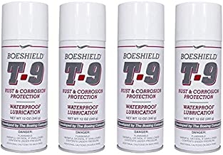 Boeshield T-9 Rust & Corrosion Protection/Inhibitor and Waterproof Lubrication, 12 oz. (4 Pack)