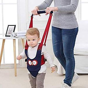 Felly Arnés de Seguridad para Caminar Ajustable Arnés de Bebe a Pie de Caminado Aprendizaje Chaleco Arneses para Niños Andador Arnés Tirantes Con Correa y Hebilla de Bebé Protección 8-24 meses, (azul)