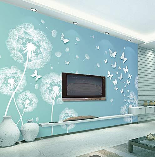 Wandtuch tapete moderne mode 3D geprägt schmetterling löwenzahn foto wandbild wohnzimmer TV hintergrund wanddekoration