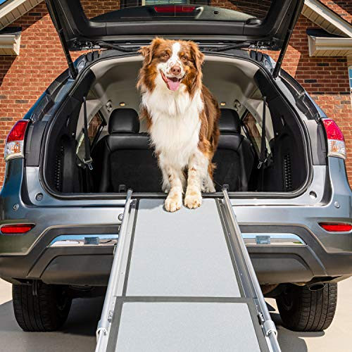 PetSafe Happy Ride Deluxe Telescoping Pet Ramp - 72 Inch, Portable, Lightweight, Aluminum Dog and Cat Ramp - Carrying Case Available