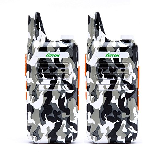2 Way Radio Walkie Talkies Long Range for Outdoor Camping Hiking Hunting Activities LT-316 Military Camo Mini Uhf Rechargeable Two-Way Radio 5-10 Miles Back to School Ideal Gifts by LUITON (2 Pack)