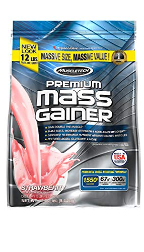 Muscletech Premium Mass Gainer 12 lb Strawberry Protéine Whey