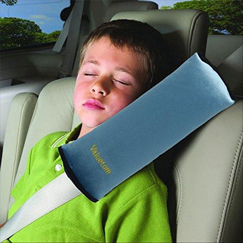 Valuetom Seatbelt Pillow, Car Seat Belt Covers for Kids, Adjust Vehicle Shoulder Pads, Safety Belt Protector Cushion, Soft Auto Seat Belt Strap Cover Headrest Neck Support for Children Baby (Blue)