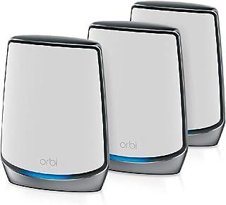 NETGEAR Orbi Mesh WiFi 6 RBK853, Router WiFi 6 + 2 Extender, WiFi 6 ultraveloce AX6000 TriBand, Copertura WiFi Mesh fino a...