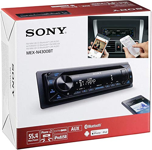 Sony MEX-N4300BT Built-in Dual Bluetooth Voice Command CD/MP3 AM/FM Radio