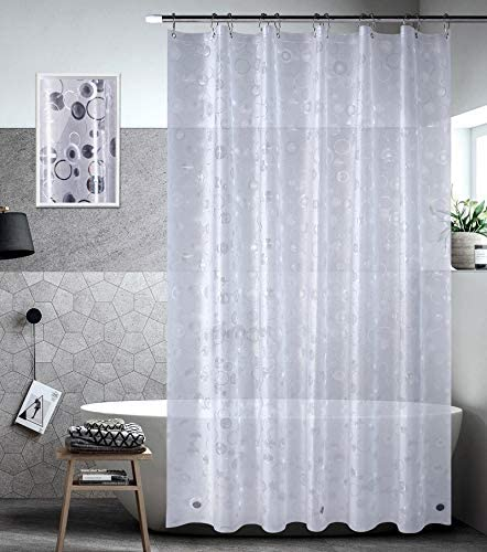 Bagail Shower Curtain 72 x78 3D Loops EVA Heavy Duty Plastic Bathroom Shower Curtain with 3 product image